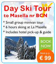 Day Ski Trip to Masella ski resort near  Barcelona