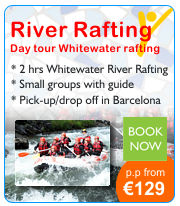 Day tour Barcelona whitewater rafting