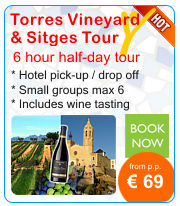 Day tour from Barcelona to Torres Winery and Sitges.