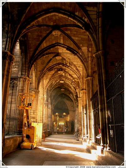Interior of part of Barcelona Cathedral