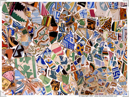 Barcelona patterns mosaic
