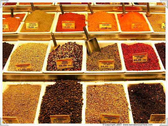Barcelona patterns spices