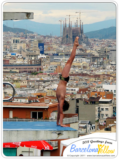 Olympic diving swimming pool Barcelona