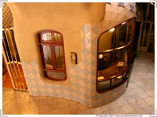 Porters office in Casa Batllo Barcelona