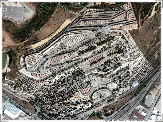 Cementario de Montjuic - Barcelona satellite photos