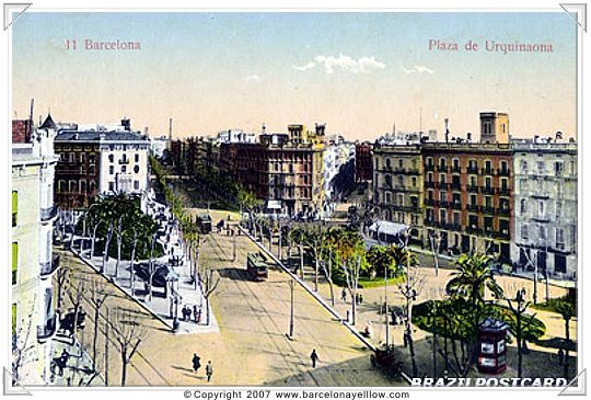 Barcelona old photos Pl Urginaona