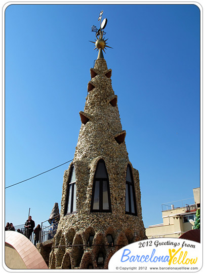 Palau Guell roof spire