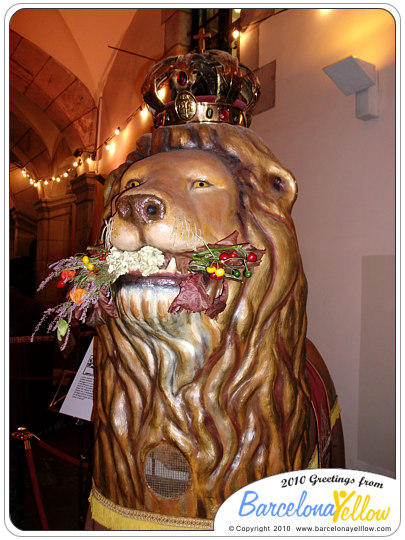 El Lleó - the Lion - one of Barcelona's mythical beasts