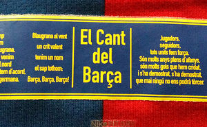 Cant del Barça - FCB anthem hymn words and English Translation