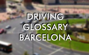 Spanish word list - driving glossary