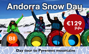 Snow Experience Day tour to Andorra from Barcelona - see snow near Barcelona