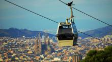 Cable car Montjuic hill - Teleferic de Montjuic