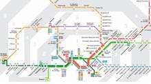 Map Cercanías / Rodalies trains Barcelona
