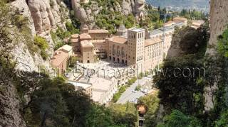 Montserrat mountain and monastery