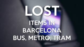 Lost items in Barcelona bus, metro or tram