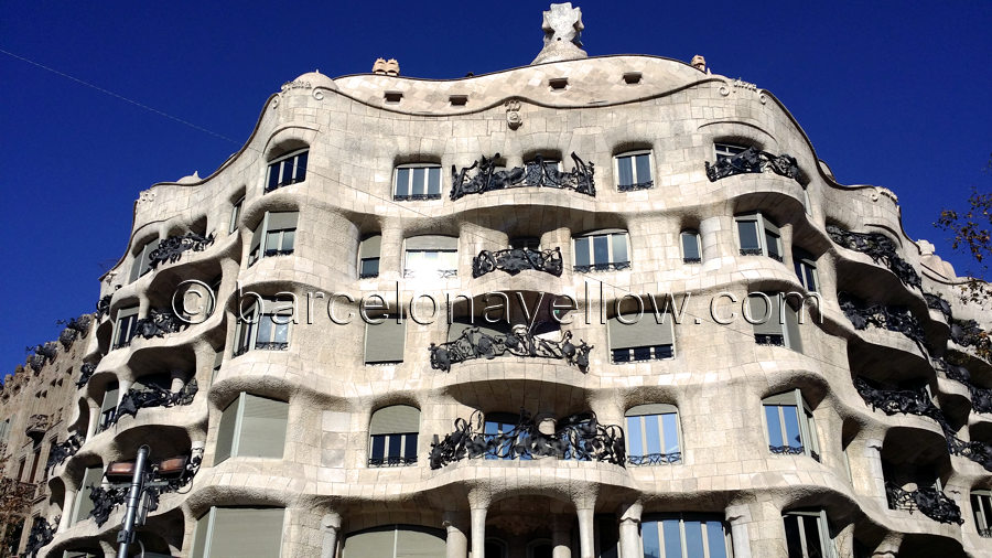 Casa Mila - La Pedrera building by Gaudi in Barcelona