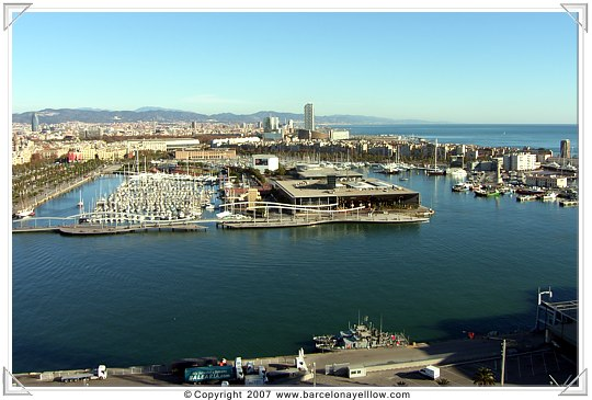 View of marina in Barcelona