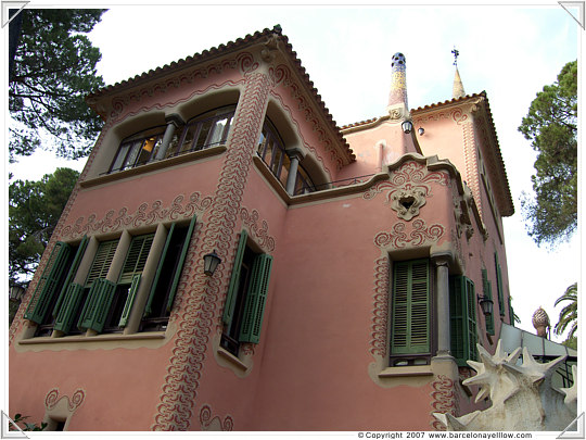 Gaudi's house that is now the Gaudi museum