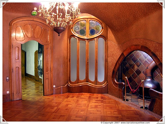 Fireplace room in Main room in Casa Batllo Barcelona