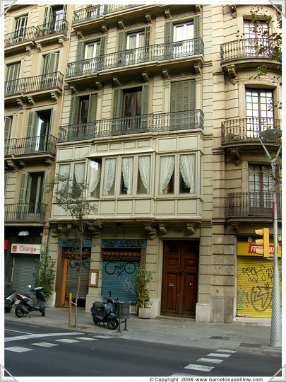 Typicall gallery - Eixample district of Barcelona
