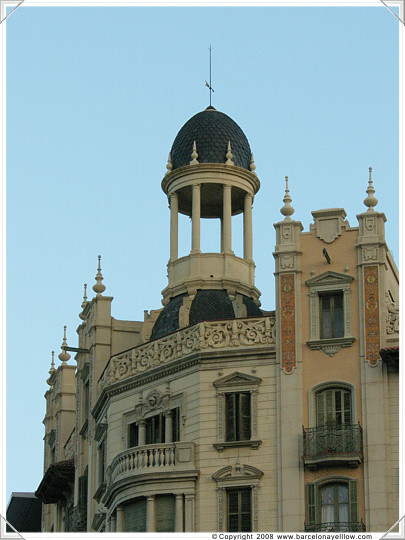 Turret in Eixample district of Barcelona