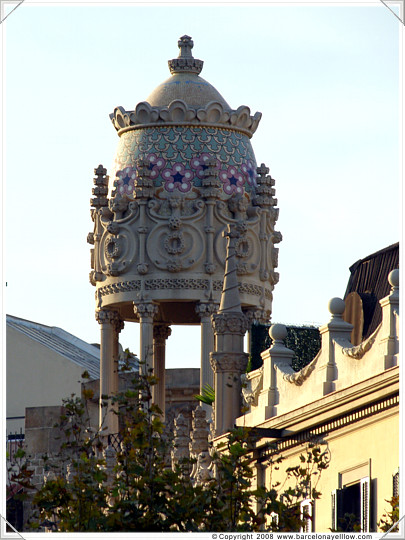 Turrets in Eixample district of Barcelona