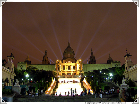 Palau Nacional Barcelona by night