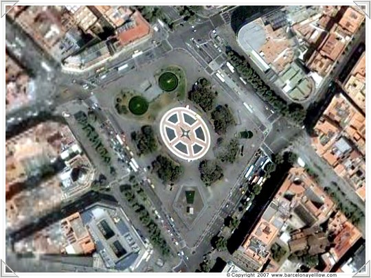 Satellite photos Barcelona Plaza Catalunya
