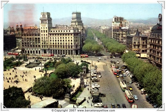 Barcelona old postcards Paseo de Gracia