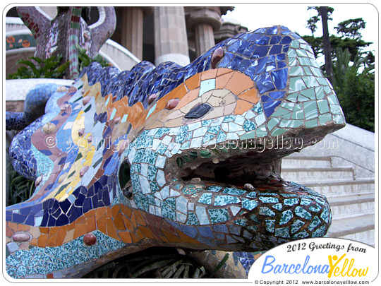 El Drac - the dragon by Gaudi in Park Guell