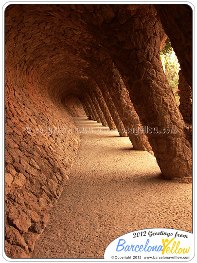 Pathway in Parc Guell Barcelona