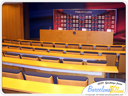 Camp Nou stadium press room