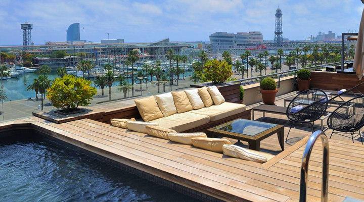 barcelona 2018 best barcelona hotel terraces rooftop pools. Black Bedroom Furniture Sets. Home Design Ideas